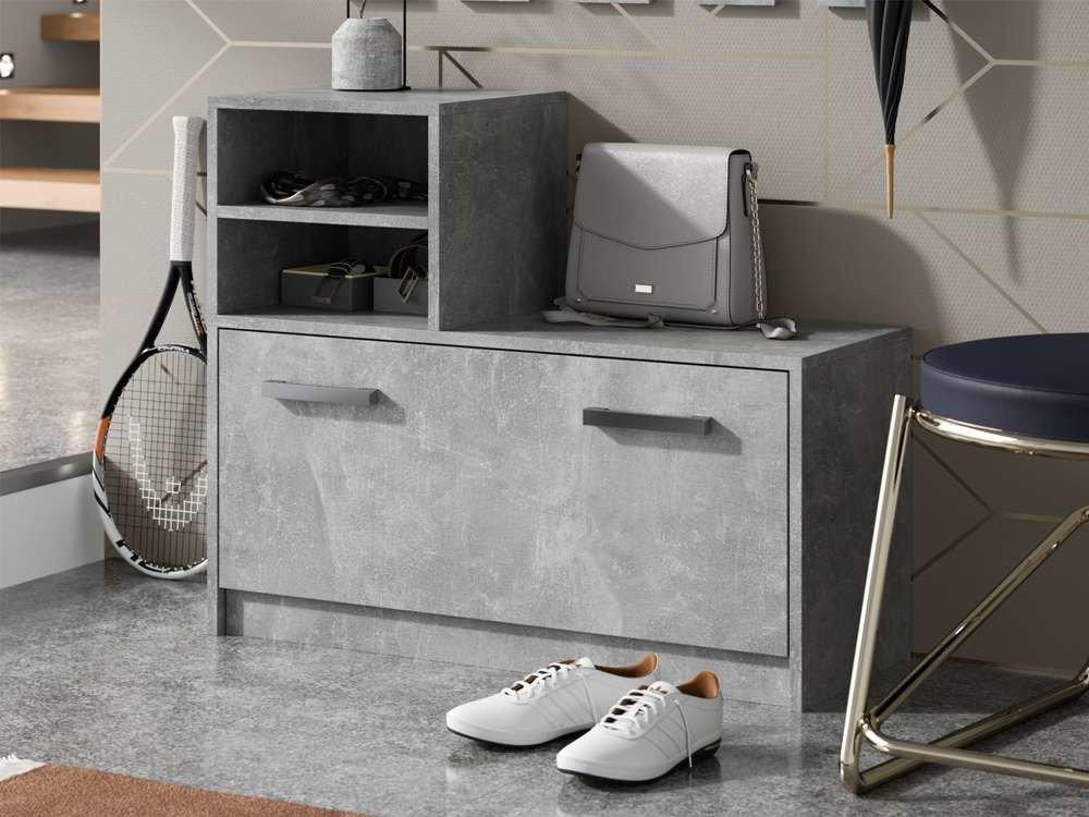 vestiaire d entree ruby gris meuble a chaussures et portemanteau