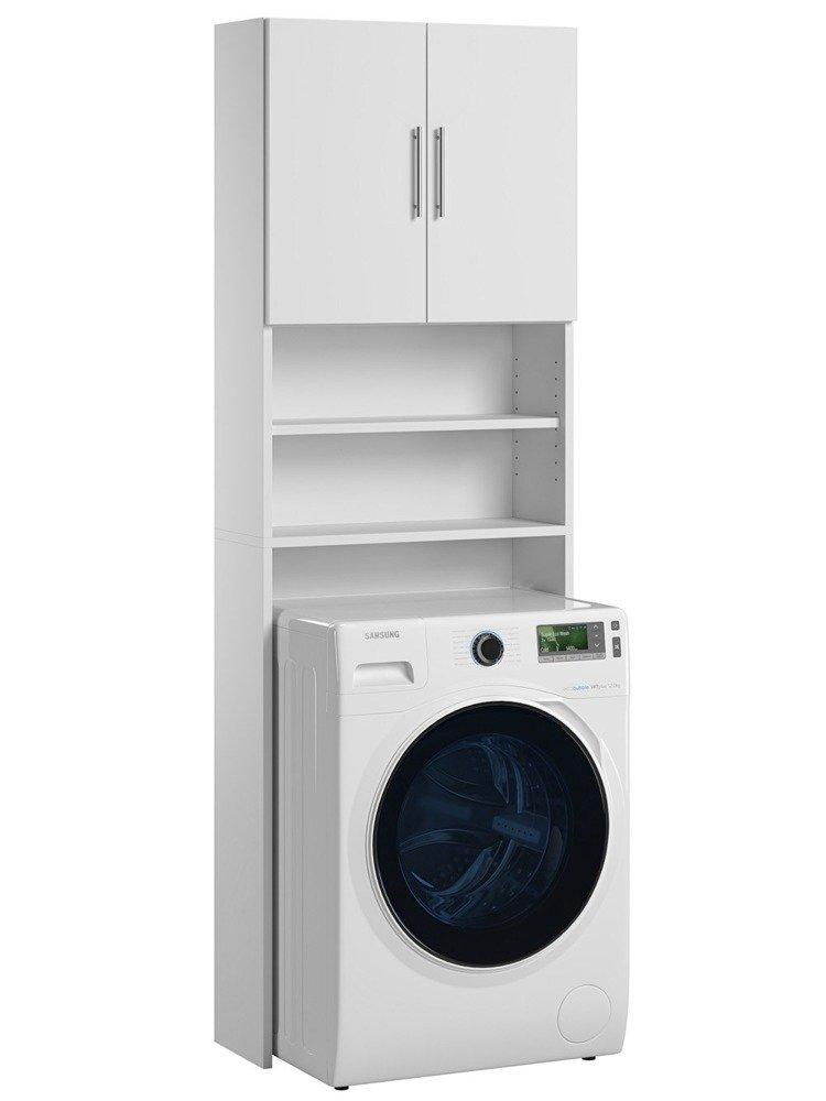 meuble pour machine a laver ariel blanc mat 190 x 64 x 25 cm