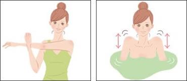 肩こり入浴法