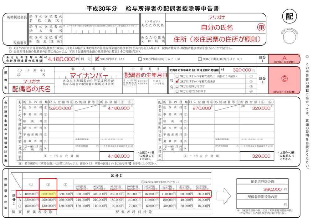 H30年分配偶者控除等申告書D01