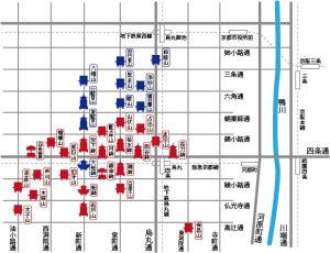 祇園祭山鉾マップ