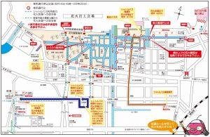 敦賀花火交通規制図