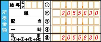 年金確定申告第一表_例102
