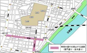 浅草寺の交通規制図01