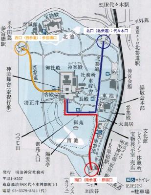 明治神宮参道図