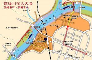 筑後川花火会場図