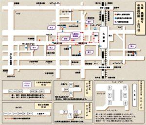 久喜提灯祭り 7月12日 巡行図