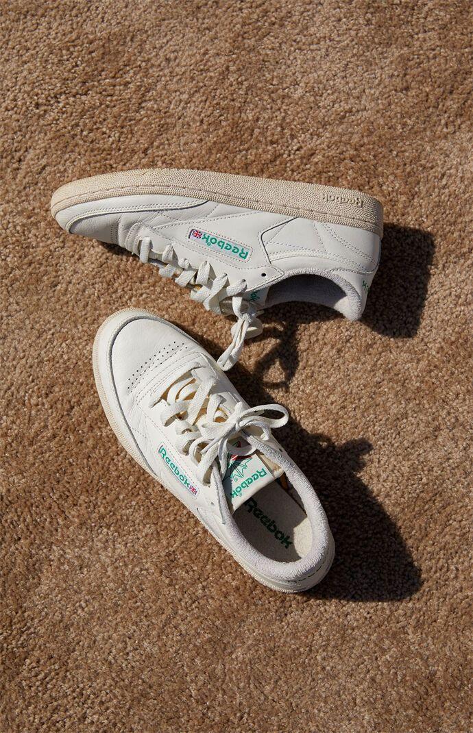 Reebok Off White Club C 85 Vintage Shoes size 10.5