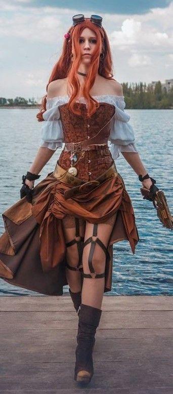 Corset Steampunk  Femme Pirate