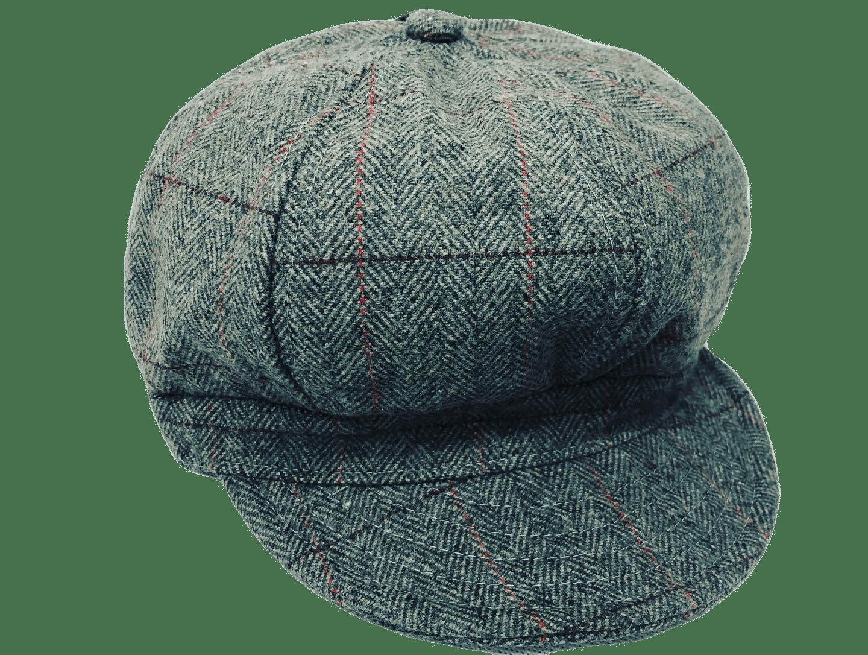 Ladies 60's Retro Baker Boy Hat Grey - 57cm