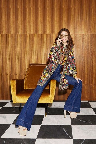 Alice + Olivia Resort 2019 Fashion Show   70s inspired fashion, 70s fashion trending, 70s fashion