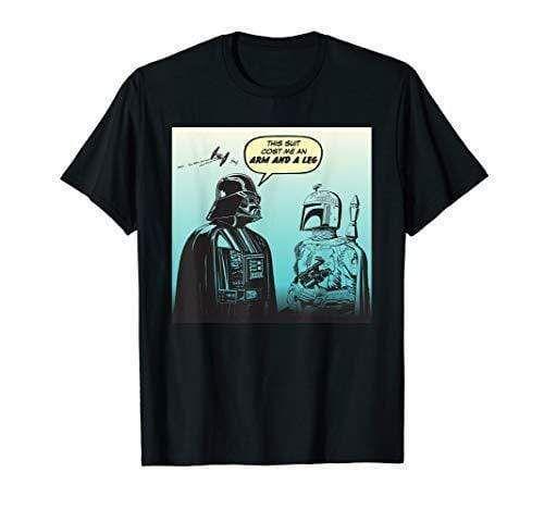 Star Wars Funny Darth Vader and Boba Fett Comic T-Shirt