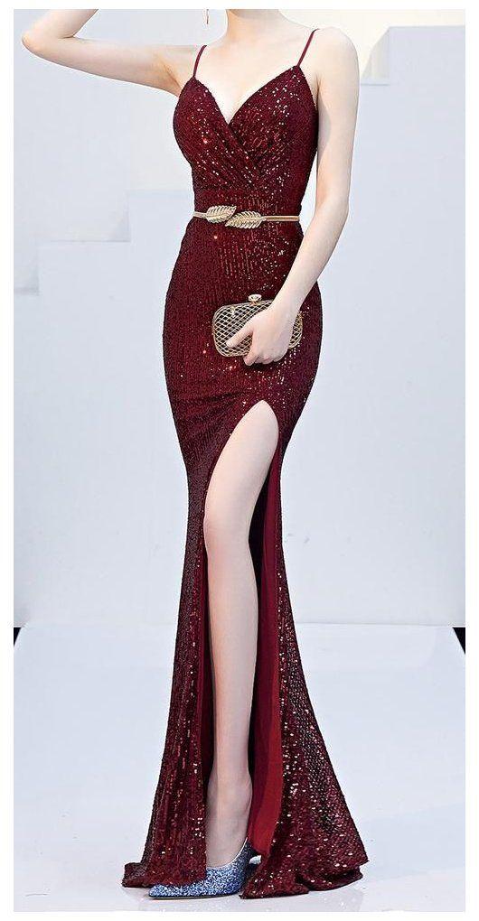 korean red dress formal