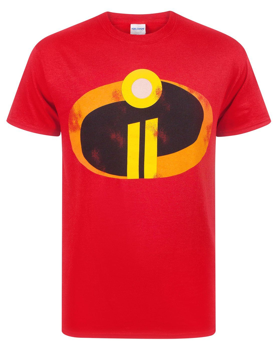 The Incredibles 2 Men's Adults Costume Red Logo T-Shirt Top - XX-Large