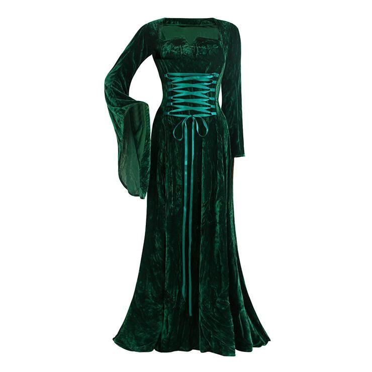 Forrest Green Medieval Dress - S/M