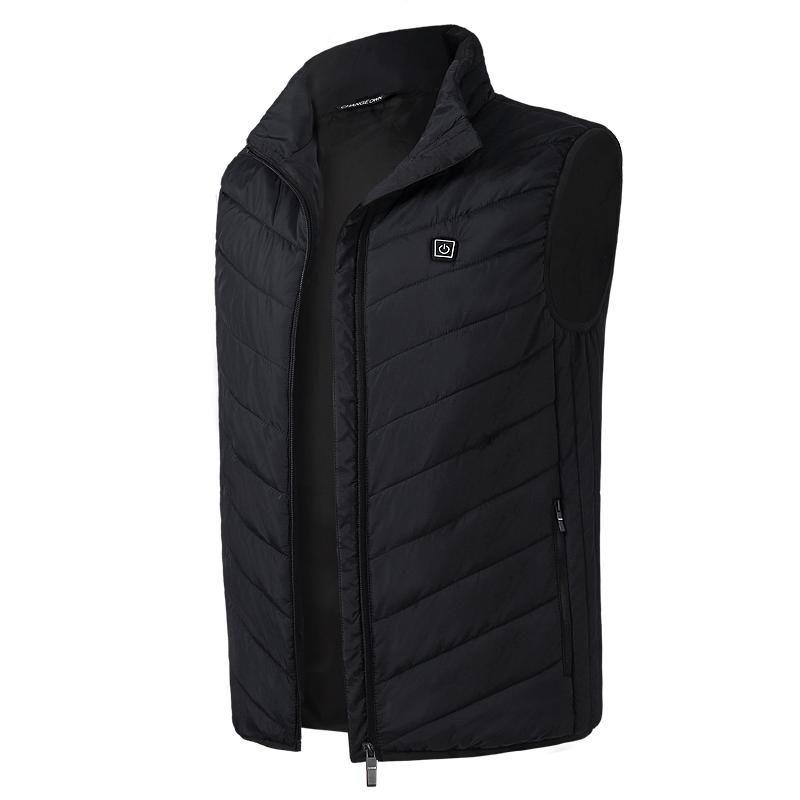 Black 2 Heating Zones Vest With Battery - XXL