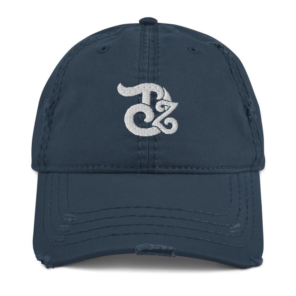 Teedzen Distressed Hat - Navy