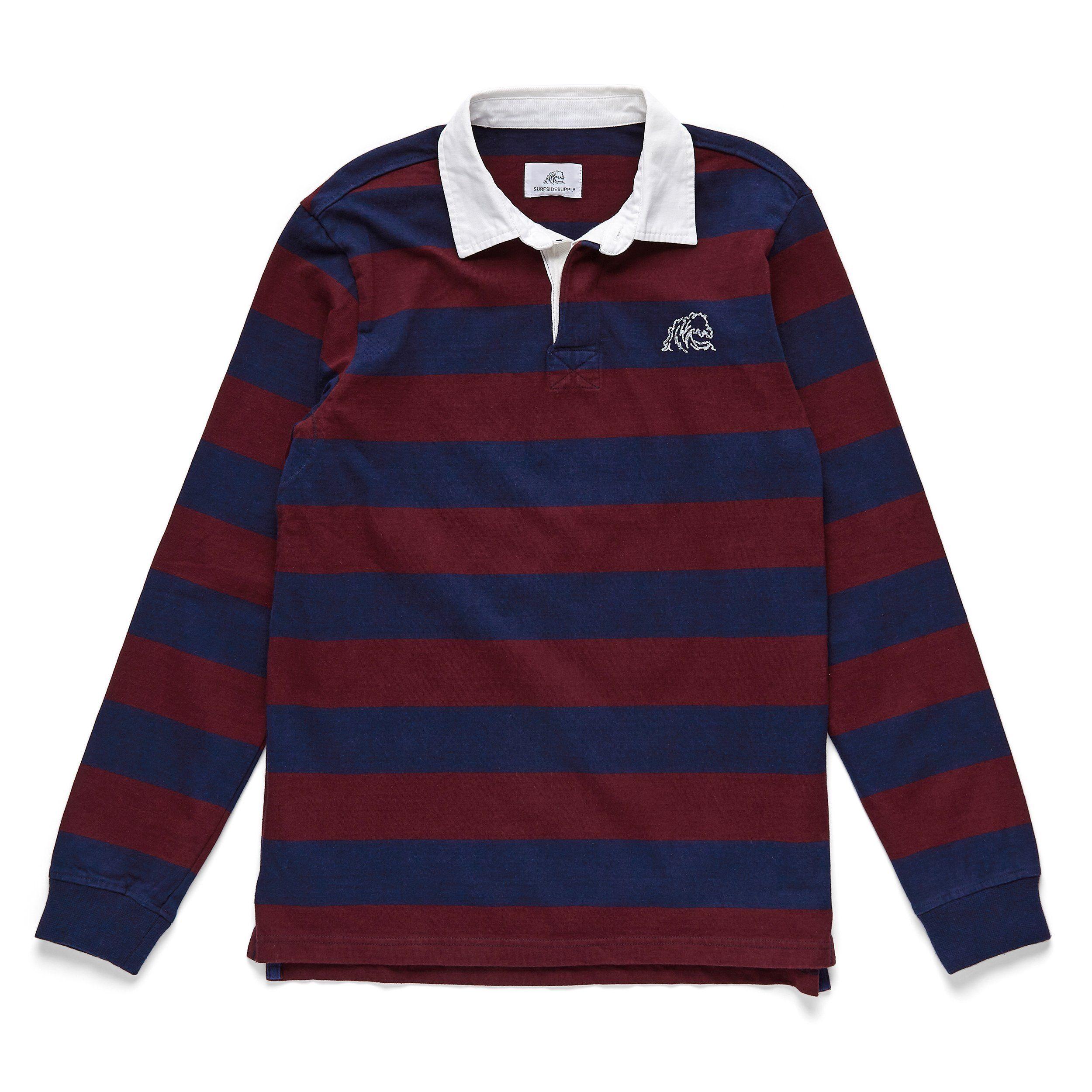 L/S Classic Rugby Shirt - Fig/Navy - Medium / Fig/Navy