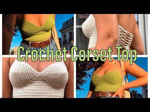 Joining method for CROCHET CORSET TOP by Mermaidsyarns BUSTIER DIY