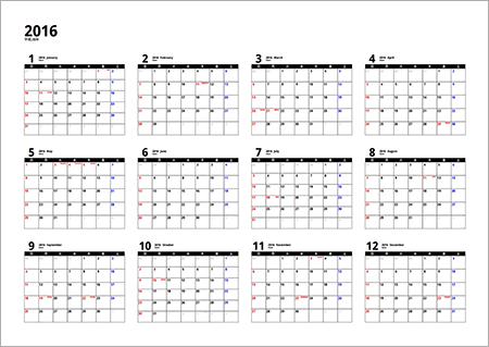 Images Blog: カレンダー 2016