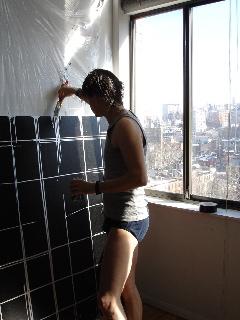 Marc Bijl at work in New York studio
