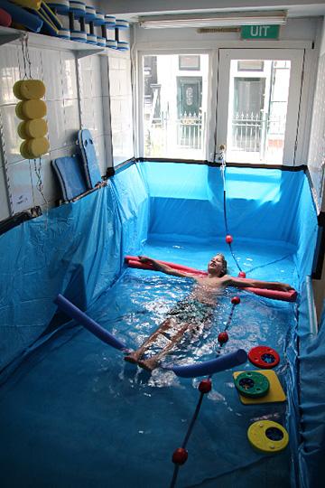 Zwemmen bij Laurence Aëgerter