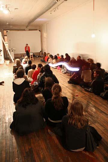 Open Interval living room gallery presents Evan Scott      Ruben Landing performance 01.JPG