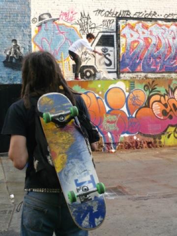 skate board erbij