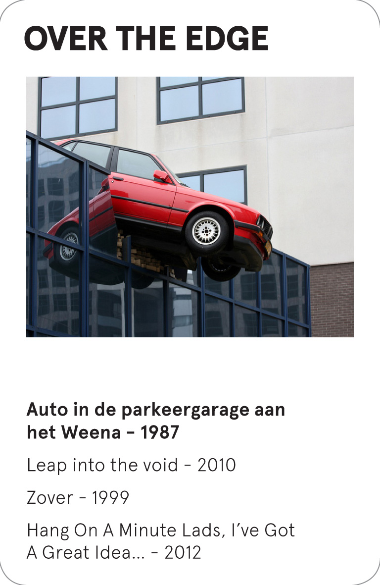 OVER THE EDGE - Cor Kraat - Auto in de parkeergarage aan het Weena - 1987