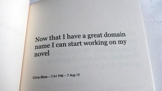 Working On My Novel