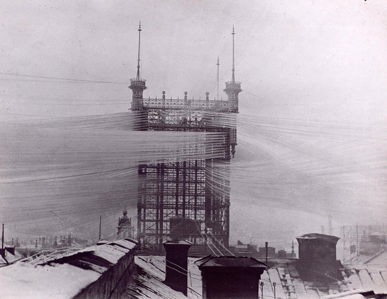 Het lokale telefoonnet van Stockholm rond 1890