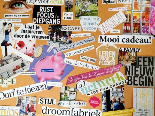 Collage met de hand