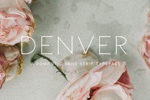Voor een romantisch, tijdloos en minimalistisch lettertype kun je kiezen voor Denver.
