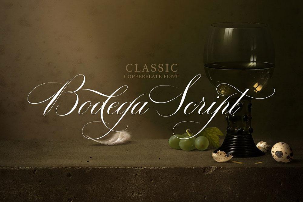 Bodega script Lettertype