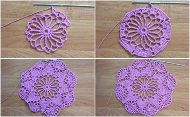 Beginner Crochet Patterns Easy To Make Doily Free Crochet Pattern Yarn Hooks