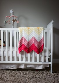 Chevron Baby Blanket Crochet Pattern Bold Bright Chevron Ba Blanket All About Ami