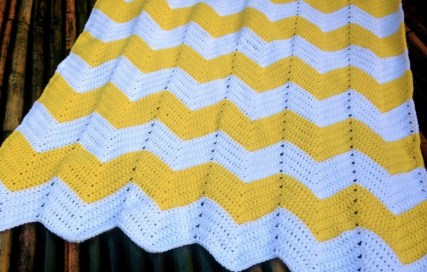 Chevron Baby Blanket Crochet Pattern Chevron Ba Blanket Free Crochet Pattern Bellus Threads Gray