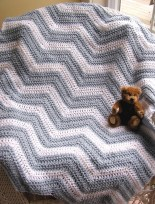 Chevron Baby Blanket Crochet Pattern Crochet Chevron Ba Blanket Gray Fromy Love Design Warmth