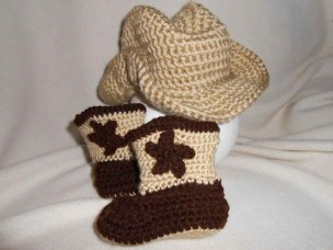 Crochet Baby Cowboy Hat And Boots Pattern Free Ba Cowboy Hat And Boots Crochet Pattern Free Chaki