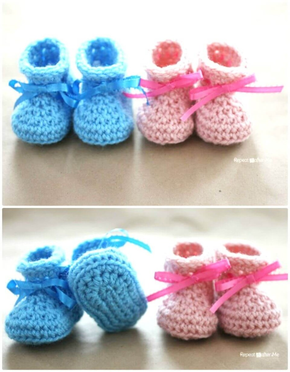 Crochet Baby Cowboy Hat And Boots Pattern Free Crochet Ba Booties 55 Free Crochet Patterns For Babies Diy