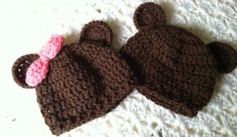 Crochet Baby Hats Patterns Lakeview Cottage Kids Mr And Miss Brownie Bear Crochet Ba Hats