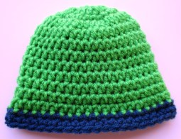 Crochet Baby Hats Patterns Rolled Brim Ba Hat Pattern My Recycled Bags