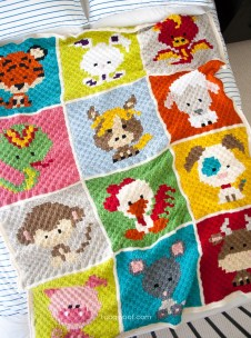Crochet Blanket Patterns For Beginners Zoodiacs C2c Crochet Afghan One Dog Woof