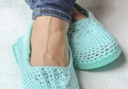 Crochet Flip Flop Pattern Crochet Slippers With Soles Free Crochet Patten Using Flip Flops