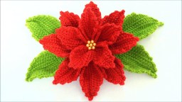 Crochet Flower Patterns Free Crochet Poinsettia Flower To Make For Decor Crochetbeja