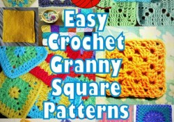 Crochet Granny Square Patterns 46 Easy Crochet Granny Square Patterns Crochet Blocks Pinterest