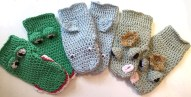 Crochet Mitten Patterns Crochet Animal Mittens Ru Custard