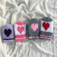 Crochet Mitten Patterns Crochet Mitten Pattern Mini Heart Love Mittenscrochet Etsy