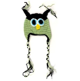 Crochet Owl Hat Pattern Amjimshop Slings New Infant Crochet Owl Hat Green