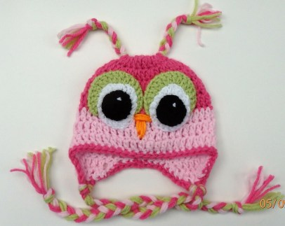 Crochet Owl Hat Pattern Crochet Owl Ba Hat Infant Toddler Child Girl Pink Cap Beanie Photo